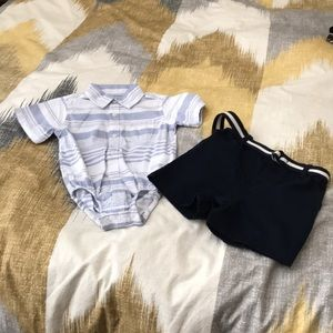 NWOT Children's Place shorts and cotton onesie